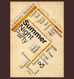 Summer Night Party - nice idea for alternative layout.