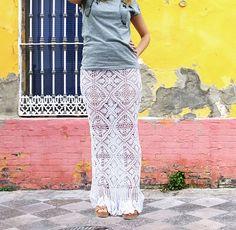 Crochet Maxi Skirt Pattern Crochet Pattern White Crochet Skirt