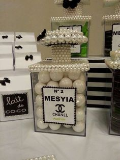 Chanel birthday party!  See more party planning ideas at CatchMyParty.com!