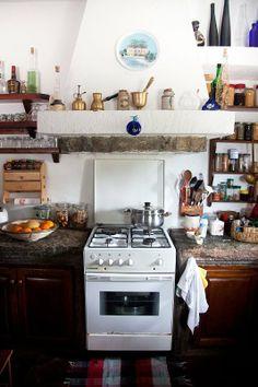 I LOVE this kitchen!!!! Eva Green's Greek Hideaway  Kitchen Tour