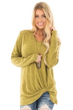 Lime Lush Boutique - Avocado Two Tone Knit Sweater with Twist Detail, $36.99 (https://www.limelush.com/avocado-two-tone-knit-sweater-with-twist-detail/)