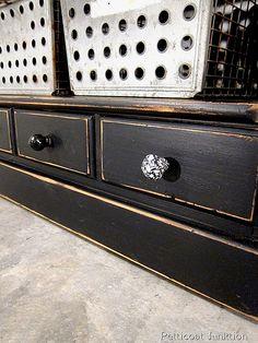 Black painted furniture, Petticoat Junktion