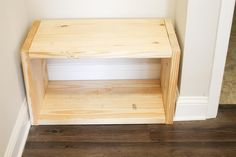 Attach top of bench to bench sides