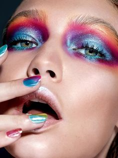 Graffiti Eye Makeup Look by Maybelline. Learn how to get Gigi Hadid's vibrant eyeshadow makeup look inspired by street art by NYFW makeup artist, Erin Parsons.