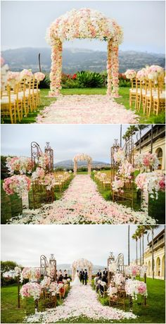 Gorgeous Wedding Spring time Ceremony with an abundance of flowers