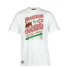 Brakeburn And Co White Short Sleeved T shirt