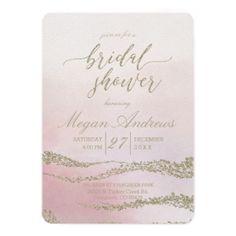 Awash Elegant Watercolor Bridal Shower Invitation - wedding invitations cards custom invitation card design marriage party