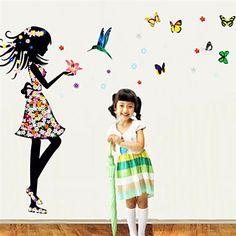 muurstickers muur stickers, kleur vlinder droom prinses pvc muurstickers 2016 – €5.87