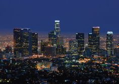 LA SKYLINE LIGHTS  A beautiful Valley sunset fades in the background of 'L.A. Skyline Lights,' a card available from Greeting Card Collection. - See more at: http://greetingcardcollection.com/products/holiday-cards-cities-cityscapes/1035-la-skyline-lights