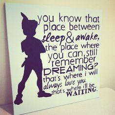 Peter Pan  Neverland  zitieren  20 X 20  von AbleEssenceStudio, $60.00