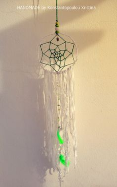 Sweet large green dreamcatcher.Handmade by me with lots of love!You can order by sending me an email : xrikonstantopoulou@hotmail.gr Or Dm me on instagram : xrikonstantopoulou