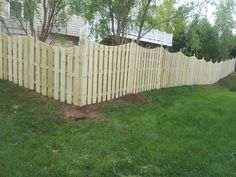 5 Foot Wooden Space Picket Fence With A Dip In Mclean Va