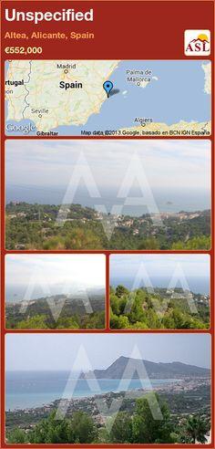 Unspecified in Altea, Alicante, Spain ►€552,000 #PropertyForSaleInSpain