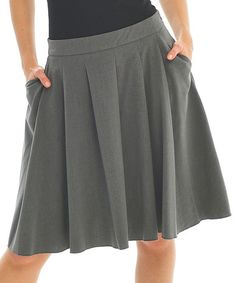 Charcoal Pleated Skirt #zulily #ad *love