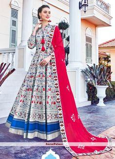 Silk Multi Colour Designer Gown Silk Anarkali Suits, Anarkali Gown, Lehenga, White Anarkali, Churidar, Salwar Kameez, Western Gown Design, Party Wear Long Gowns, Printed Gowns
