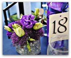 dekoracje kwiatowe fioletowe