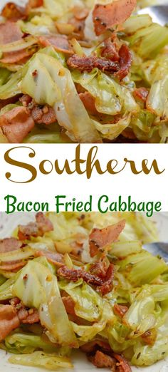 Southern Fried Cabbage and Bacon Yes, you can bake bacon in the oven! For perfec… Southern Fried Cabbage and Bacon Yes, you can bake bacon in the oven! For perfectly crispy oven baked bacon, bake in a oven. Bacon cooks more evenly at a lower temperature Healthy Recipes, Cooking Recipes, Healthy Southern Recipes, Southern Cabbage Recipes, Cooking Tips, Cooking With Bacon, Steak Recipes, Meals With Bacon, Soul Food Recipes