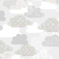 133750 Passing Clouds | Gray from First Light by Eloise Renouf for Cloud9 Fabrics