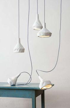 """Like Paper"", Concrete Lamps"