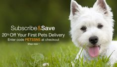 """Amazon - Extra 20% off """"First"""" Pet Food & Supplies Subscribe & Save Delivery - YMMV #LavaHot http://www.lavahotdeals.com/us/cheap/amazon-extra-20-pet-food-supplies-subscribe-save/125926"""
