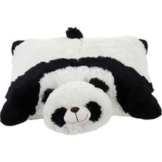 Black and white panda pillow pet:) so cute and fluffy....really popular gifts for kids.