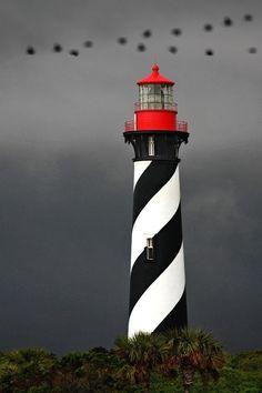 Black, White & Red Lighthouse