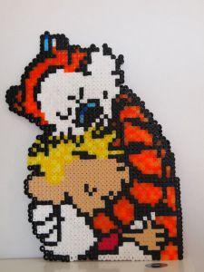 Calvin and Hobbes hama perler beads