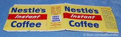"""Nestle's Coffee""  [Nestle's coffee label from the 1950s, I think.]   [Photo by ~Waffle Whiffer~ (Brandon)  April 5 2009]"