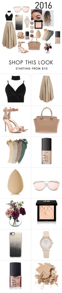 """""""all i want for christmas is you"""" by rileeyyy on Polyvore featuring Boohoo, TIBI, Gianvito Rossi, Michael Kors, Gucci, NARS Cosmetics, Terre Mère, beautyblender, Givenchy and Casetify"""