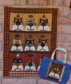 Alley Cat Tales Patterns - Purr Cute Quilts, Small Quilts, Mini Quilts, Baby Applique, Applique Quilts, Quilt Baby, Cat Quilt Patterns, Loom Patterns, Fabric Animals