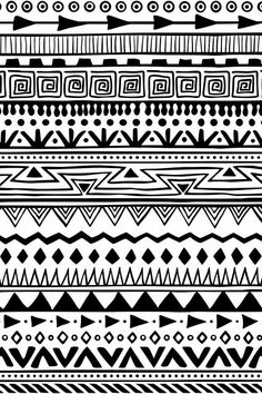 Moldura - Padrão tribal