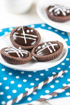 Tartelettes chocolat à la ganache choco/caramel