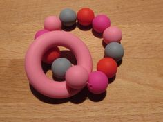 Silicone Teething Ring A beautiful colourful teether that your baby will love! The ring and beads are made from food grade Teething, Food Grade, Beads, Rings, Beautiful, Beading, Ring, Bead, Jewelry Rings