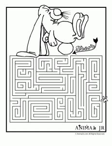 Printable Mazes: Spring Themed Coloring Pages | Animal Jr.