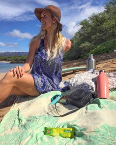 Beach essentials with Bethany, wearing our Dakota Rose dress. Shop now at… Famous Surfers, Dakota Rose, Bethany Hamilton, Professional Surfers, Soul Surfer, Beach Essentials, Rose Dress, Christian Women, Rip Curl