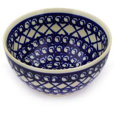Polish Pottery 5-inch Bowl   Boleslawiec Stoneware   Polmedia H3125D   Polmedia