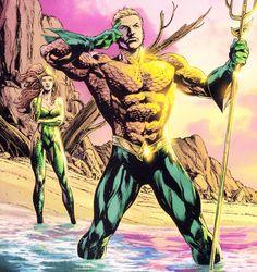 Mera and Aquaman in Brightest Day 3 by Ivan Reis Arthur Curry, Dc Comic Books, Comic Art, Aquaman Dc Comics, Dr Fate, Super Heroine, Black Manta, Dc Comics Characters, Justice League