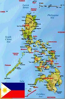 Filippinerne Geographical Kort Over Filippinerne Bandeiras Dos