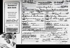 Marilyn certificate of birth