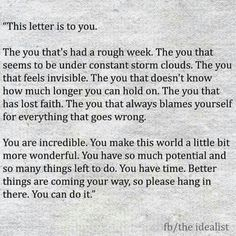 Remember when you are at the end of your rope...