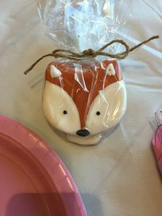 Fox sugar cookie favors Fox Cookies, Cute Cookies, Sugar Cookies, 10th Birthday Parties, Birthday Favors, Jasmine Cake, Fox Cake, Baby Q Shower, Fox Wedding
