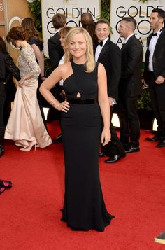 Amy Poehler | Fashion On The 2014 Golden Globes Red Carpet via BuzzFeed