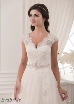 You can find us on Etsy https://www.etsy.com/shop/EvaBride #wedding #dress #prom #gown #lace #long #delicate #unique #bride #ceremony #openback #backless #beautiful #ivory #white #band #bow #bridal #Princess #Etsy #clothing #formal