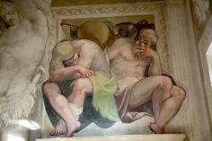 Fresco in the main hall of Villa Caldogno in Caldogno north of Vicenza.