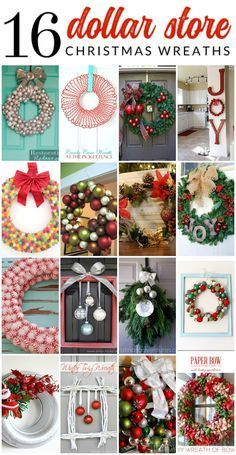 16 gorgeous dollar store christmas wreaths