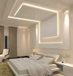 Discover recipes, home ideas, style inspiration and other ideas to try. Gypsum Ceiling Design, Bedroom False Ceiling Design, House Ceiling Design, Ceiling Design Living Room, False Ceiling Living Room, Bedroom Bed Design, Home Ceiling, Bedroom Ceiling, Modern Bedroom