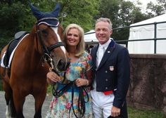 """Ann Romney is part-owner of a horse which has qualified for the 2012 Olympics in London in the sport of dressage. In an interview on """"Face the Nation,"""" Mitt Romney said he was """"very pleased"""" for his wife and the horse's trainer. At left is a picture of the horse, named Rafalca, with Ann Romney and the trainer."""