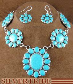 Turquoise necklace & earrings I like.