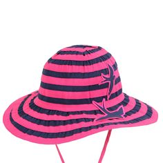 16b1a08d263 Girls Wide Brim Bucket Summer Sun Hat In Pink In Size Small. Great Sun  Protection