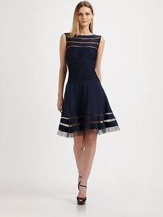 See through MOB! Flounce Skirt Dress